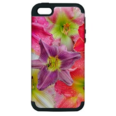 Wonderful Floral 22a Apple Iphone 5 Hardshell Case (pc+silicone) by MoreColorsinLife