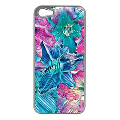 Wonderful Floral 22b Apple Iphone 5 Case (silver) by MoreColorsinLife