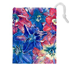 Wonderful Floral 22c Drawstring Pouches (xxl) by MoreColorsinLife