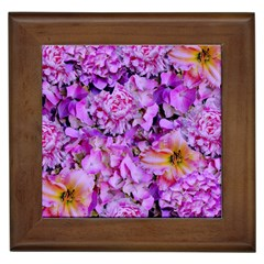 Wonderful Floral 24 Framed Tiles by MoreColorsinLife