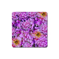 Wonderful Floral 24 Square Magnet by MoreColorsinLife