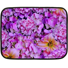 Wonderful Floral 24 Double Sided Fleece Blanket (mini)  by MoreColorsinLife