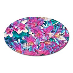 Wonderful Floral 25a Oval Magnet by MoreColorsinLife