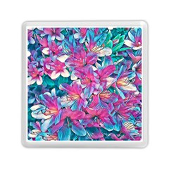 Wonderful Floral 25a Memory Card Reader (square)  by MoreColorsinLife