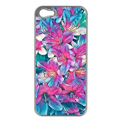Wonderful Floral 25a Apple Iphone 5 Case (silver) by MoreColorsinLife
