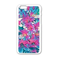 Wonderful Floral 25a Apple Iphone 6/6s White Enamel Case by MoreColorsinLife
