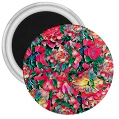 Wonderful Floral 24b 3  Magnets