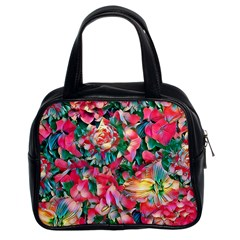 Wonderful Floral 24b Classic Handbags (2 Sides) by MoreColorsinLife