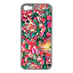 Wonderful Floral 24b Apple Iphone 5 Case (silver) by MoreColorsinLife