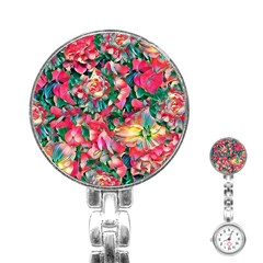 Wonderful Floral 24b Stainless Steel Nurses Watch by MoreColorsinLife