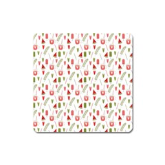 Watermelon Fruit Paterns Square Magnet by TastefulDesigns