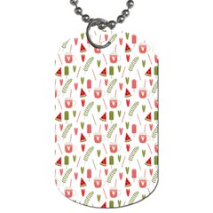 Watermelon Fruit Paterns Dog Tag (two Sides) by TastefulDesigns