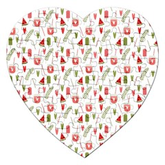 Watermelon Fruit Paterns Jigsaw Puzzle (heart) by TastefulDesigns