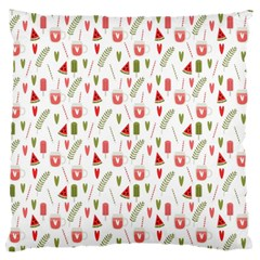 Watermelon Fruit Paterns Large Flano Cushion Case (two Sides)