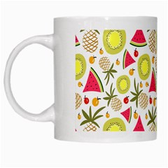 Summer Fruits Pattern White Mugs by TastefulDesigns