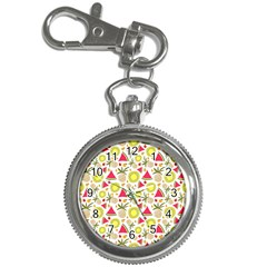 Summer Fruits Pattern Key Chain Watches by TastefulDesigns