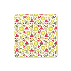 Summer Fruits Pattern Square Magnet by TastefulDesigns