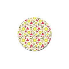 Summer Fruits Pattern Golf Ball Marker (4 Pack) by TastefulDesigns