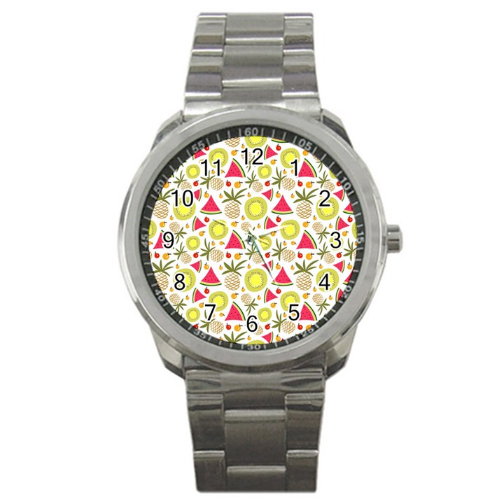 Summer Fruits Pattern Sport Metal Watch