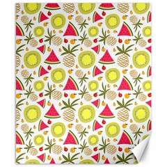 Summer Fruits Pattern Canvas 8  X 10