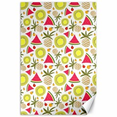 Summer Fruits Pattern Canvas 24  X 36