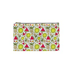 Summer Fruits Pattern Cosmetic Bag (small)  by TastefulDesigns