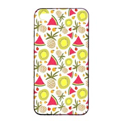 Summer Fruits Pattern Apple Iphone 4/4s Seamless Case (black) by TastefulDesigns
