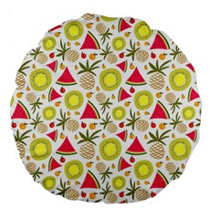 Summer Fruits Pattern Large 18  Premium Round Cushions