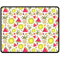 Summer Fruits Pattern Double Sided Fleece Blanket (medium)