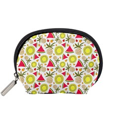 Summer Fruits Pattern Accessory Pouches (small)  by TastefulDesigns