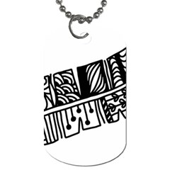 Feather Zentangle Dog Tag (one Side) by CraftyLittleNodes