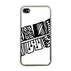 Feather Zentangle Apple Iphone 4 Case (clear) by CraftyLittleNodes