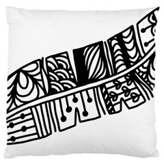 Feather Zentangle Large Cushion Case (one Side) by CraftyLittleNodes
