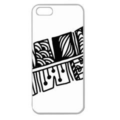 Feather Zentangle Apple Seamless Iphone 5 Case (clear) by CraftyLittleNodes