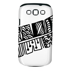 Feather Zentangle Samsung Galaxy S Iii Classic Hardshell Case (pc+silicone) by CraftyLittleNodes