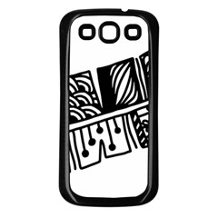 Feather Zentangle Samsung Galaxy S3 Back Case (black) by CraftyLittleNodes
