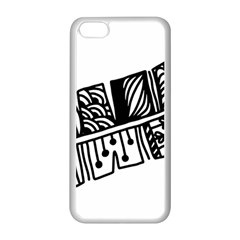 Feather Zentangle Apple Iphone 5c Seamless Case (white) by CraftyLittleNodes