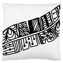Feather Zentangle Standard Flano Cushion Case (one Side) by CraftyLittleNodes