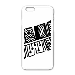 Feather Zentangle Apple Iphone 6/6s White Enamel Case by CraftyLittleNodes