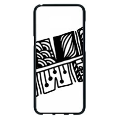 Feather Zentangle Samsung Galaxy S8 Plus Black Seamless Case by CraftyLittleNodes