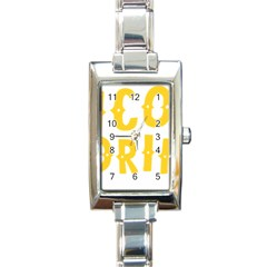 Cinco De Drinko Rectangle Italian Charm Watch by CraftyLittleNodes