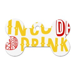 Cinco De Drinko Dog Tag Bone (one Side) by CraftyLittleNodes