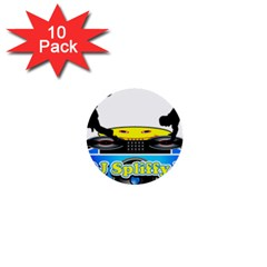 Dj Logo Transparent 1  Mini Buttons (10 Pack)  by Acid909