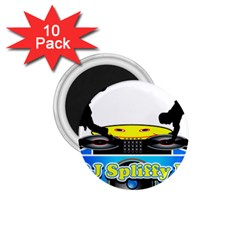 Dj Logo Transparent 1 75  Magnets (10 Pack)  by Acid909