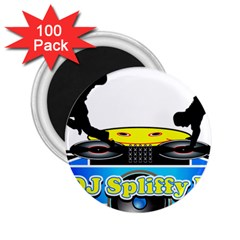 Dj Logo Transparent 2 25  Magnets (100 Pack)  by Acid909