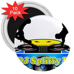 Dj Logo Transparent 3  Magnets (10 Pack)  by Acid909