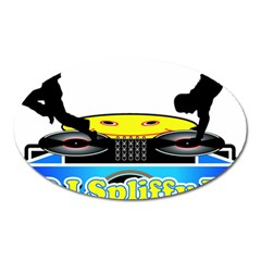 Dj Logo Transparent Oval Magnet by Acid909