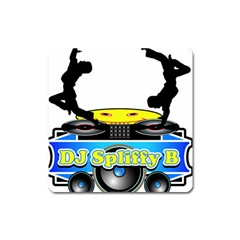 Dj Logo Transparent Square Magnet by Acid909