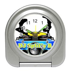 Dj Logo Transparent Travel Alarm Clocks by Acid909