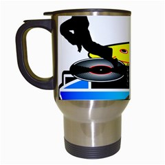 Dj Logo Transparent Travel Mugs (white) by Acid909